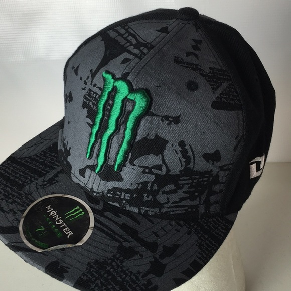 172dfeb82cf MONSTER Energy Drink Hat Fitted Logo 7 1 4. M 5afc62e345b30c9f2237f65a